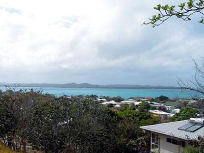 木曜島から見たホーン島